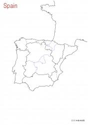 スペイン全土白地図⑨