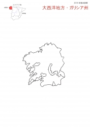 大西洋地方 白地図
