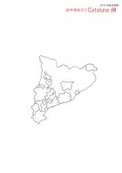 地中海地方白地図