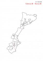 バレンシア・ムルシア白地図
