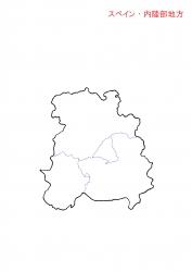 内陸白地図