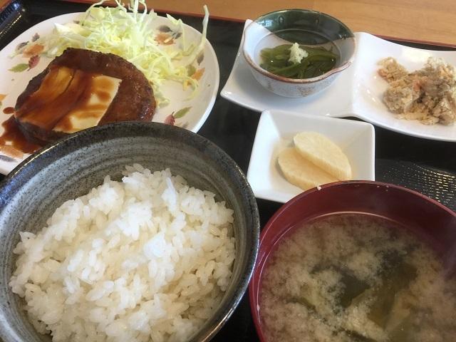 味の店 柚子庵 ハンバーグ定食1