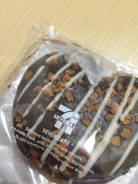 セブンカフェドーナツ クランチハート(生チョコホイップ)