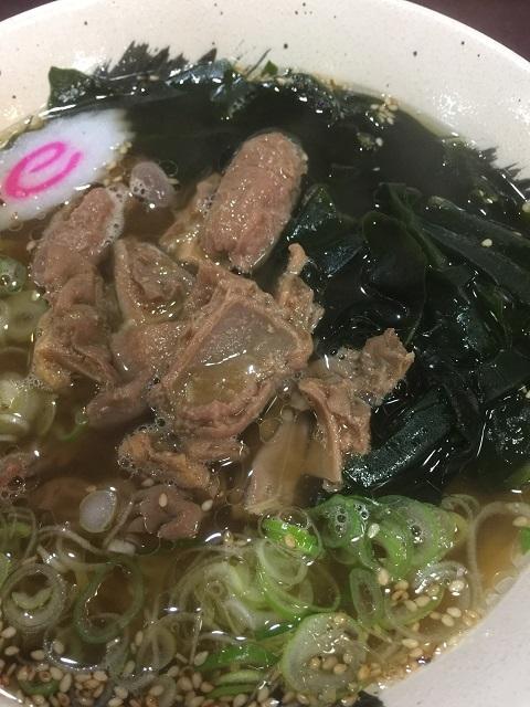 金多楼 メニュー モツラーメン(馬モツ)