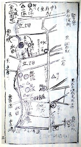 「布田九塚」原図