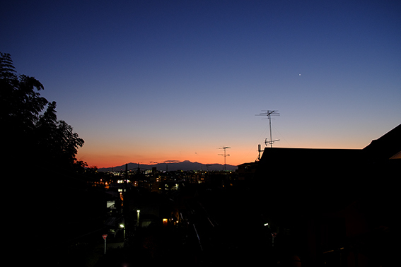2017.3.9の夕景