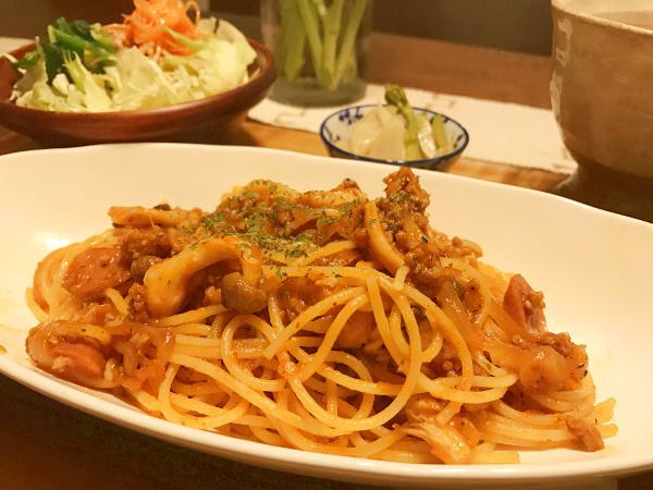 Mar02_トマトケチャップ味パスタ