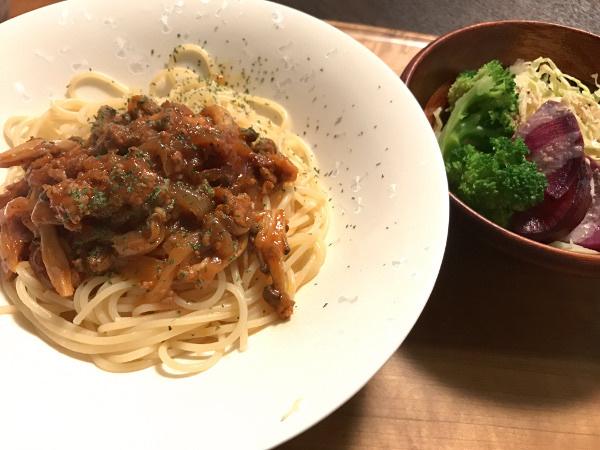 Mar16_鶏ささみのトマト味パスタ
