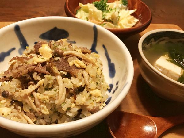 Mar21_牛肉のラー油ピリ辛炒飯