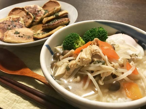 Mar28_鶏ささみと野菜の雑炊