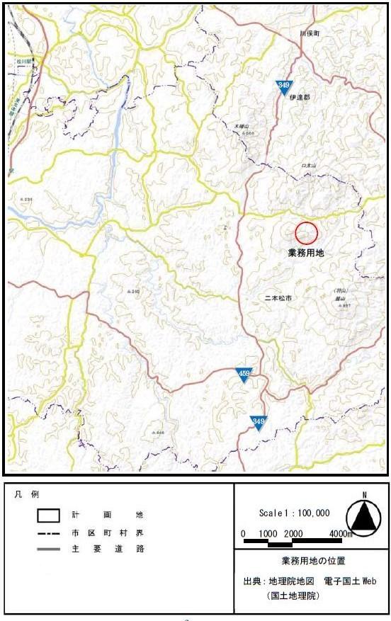二本松市地図