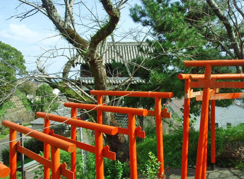 №27・鳥居と松越しに見る「卯寅口門脇櫓」