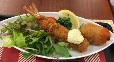 洋食グランドZEN 海老フライとカニクリームコロッケ