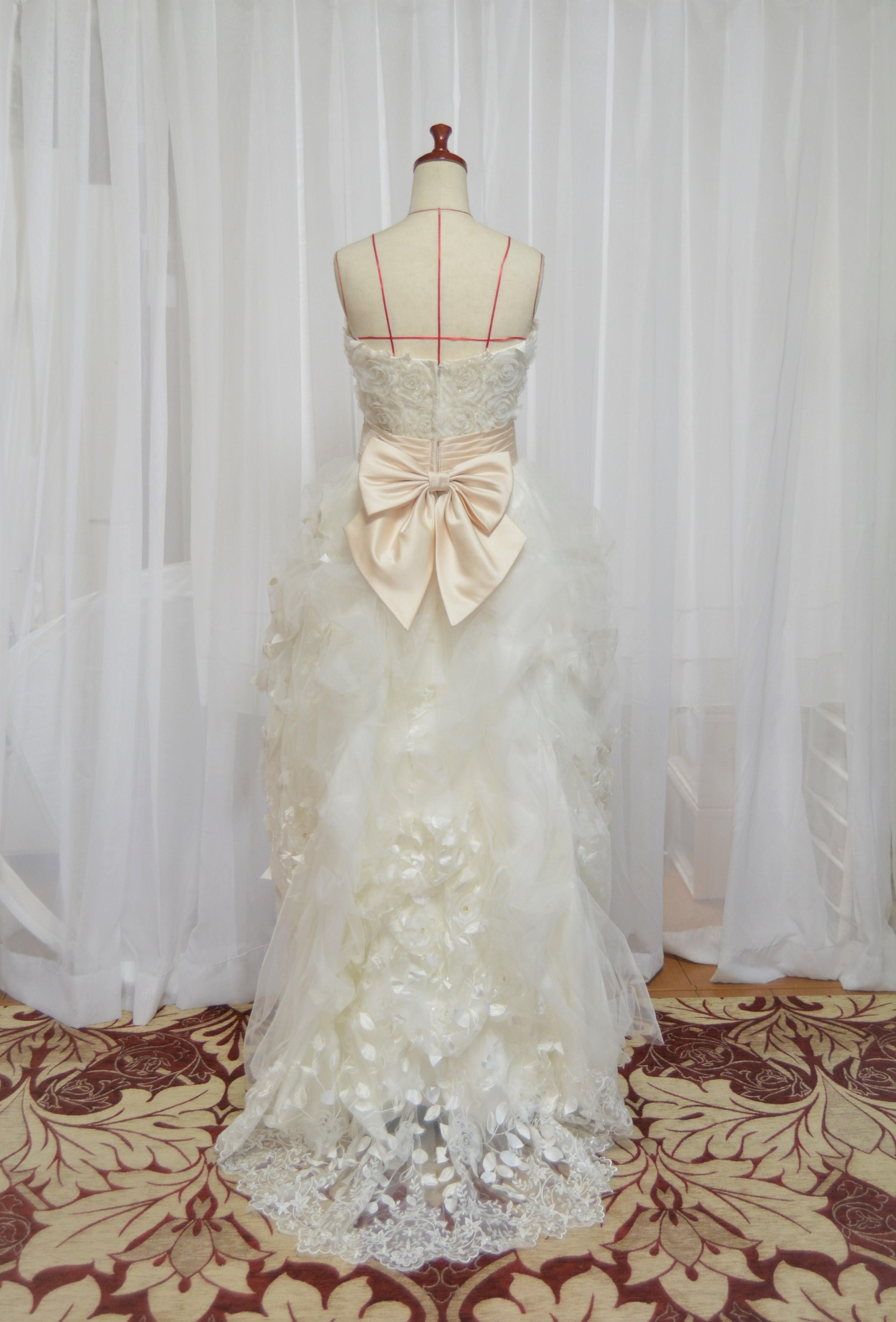 hanayomesalon  ミニ トレーン ウエディングドレス