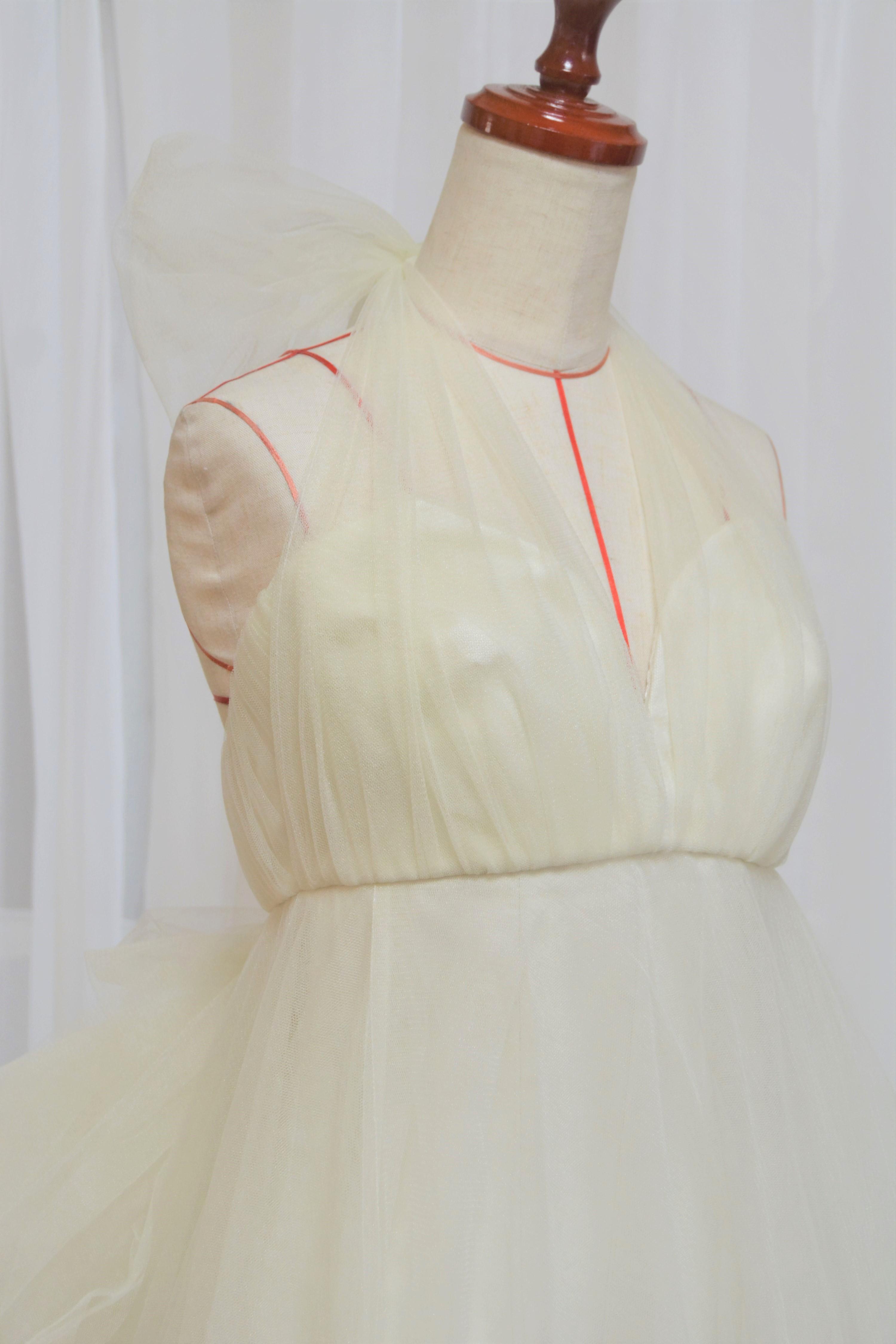 hanayomesalon エンパイア ライン ウエディングドレス