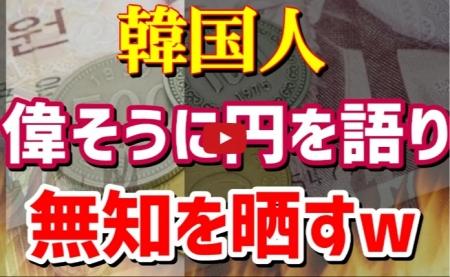 【動画】『日本円」の世界評価について『韓国ウォン』が思いっきり無知を晒す!しかも偉そうに語るww [嫌韓ちゃんねる ~日本の未来のために~ 記事No15724