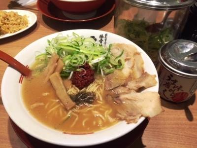 161231ラーメン横綱阪急三番街店ラーメン700円