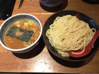 170115三田製麺所梅田店つけ麺730円が500円なんで中盛り300g