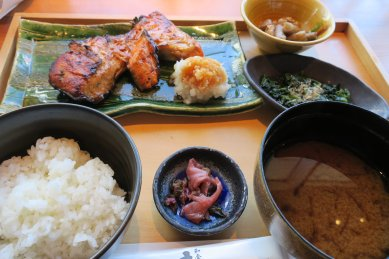 銀鮭の漬け焼きご膳@1,280円