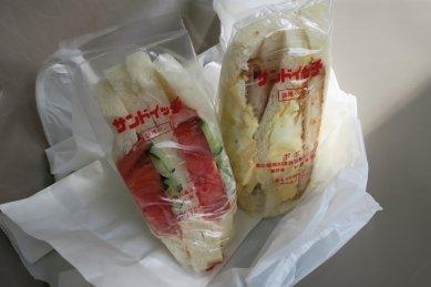 サンドイッチ(野菜&肉じゃがコロッケか)