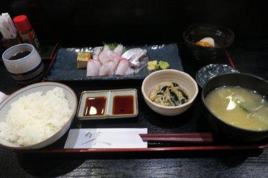カンパチ刺身定食@950円