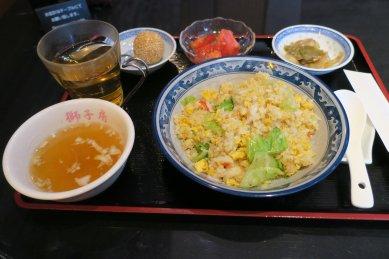 蟹とレタスの炒飯セット@1,390円
