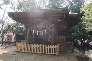 碑文谷八幡宮・拝殿