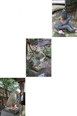 大豊神社・狛巳狛猿狛鳶