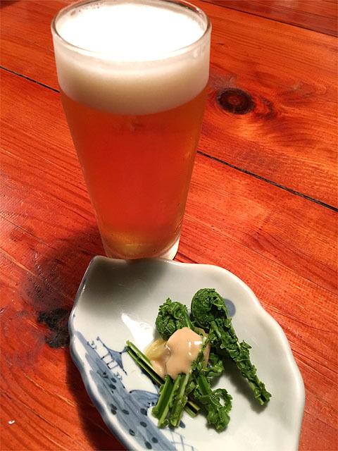 150501会津田舎家-生ビール