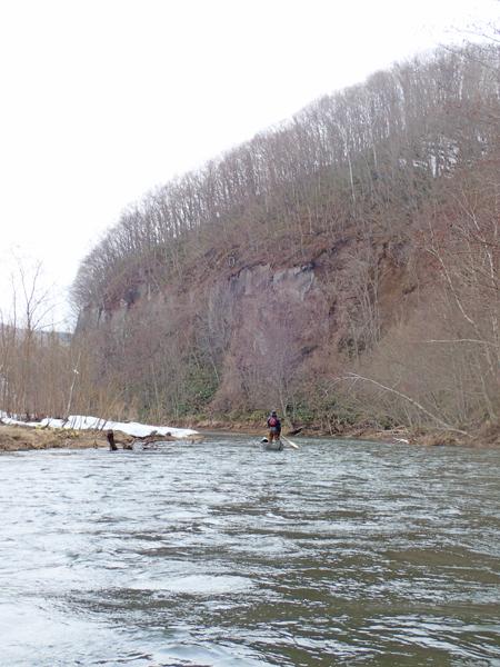 尻別川でカヌー02