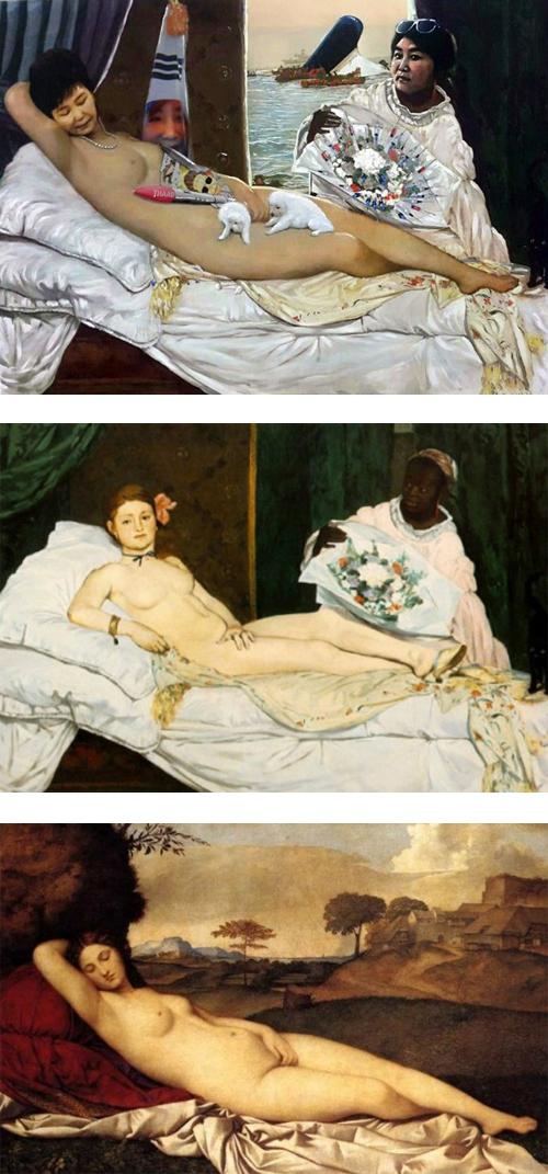 朴槿恵の裸婦画のモデル1