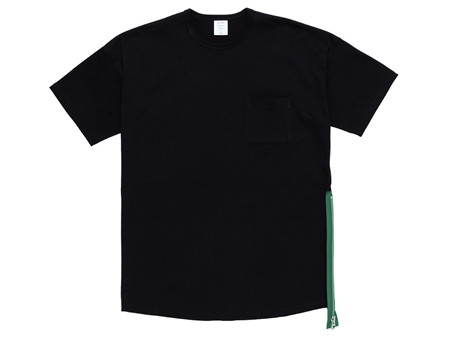 MGK-CS17 SIDE ZIP MODERN TEE BLACK_R