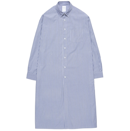 MGK-SH05 EXTRA LONG SHIRT BLUE STRIPE_R
