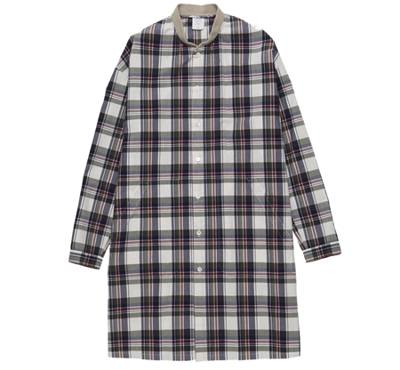 MGK-SH06 RIB LONG SHIRT KHAKI CHECK_R