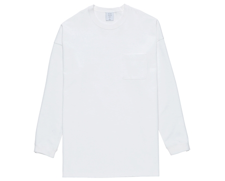 MG-LCS01 LONG POCKET TEE WHITE_R