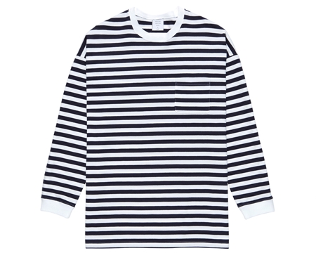 MG-LCS01 LONG POCKET TEE BORDER NAVY_R