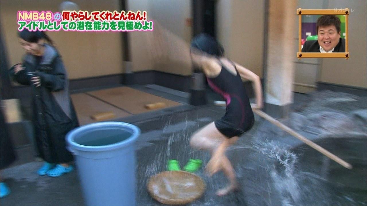 「NMBとまなぶくん」で競泳水着を着て熱湯風呂に入った須藤凜々花