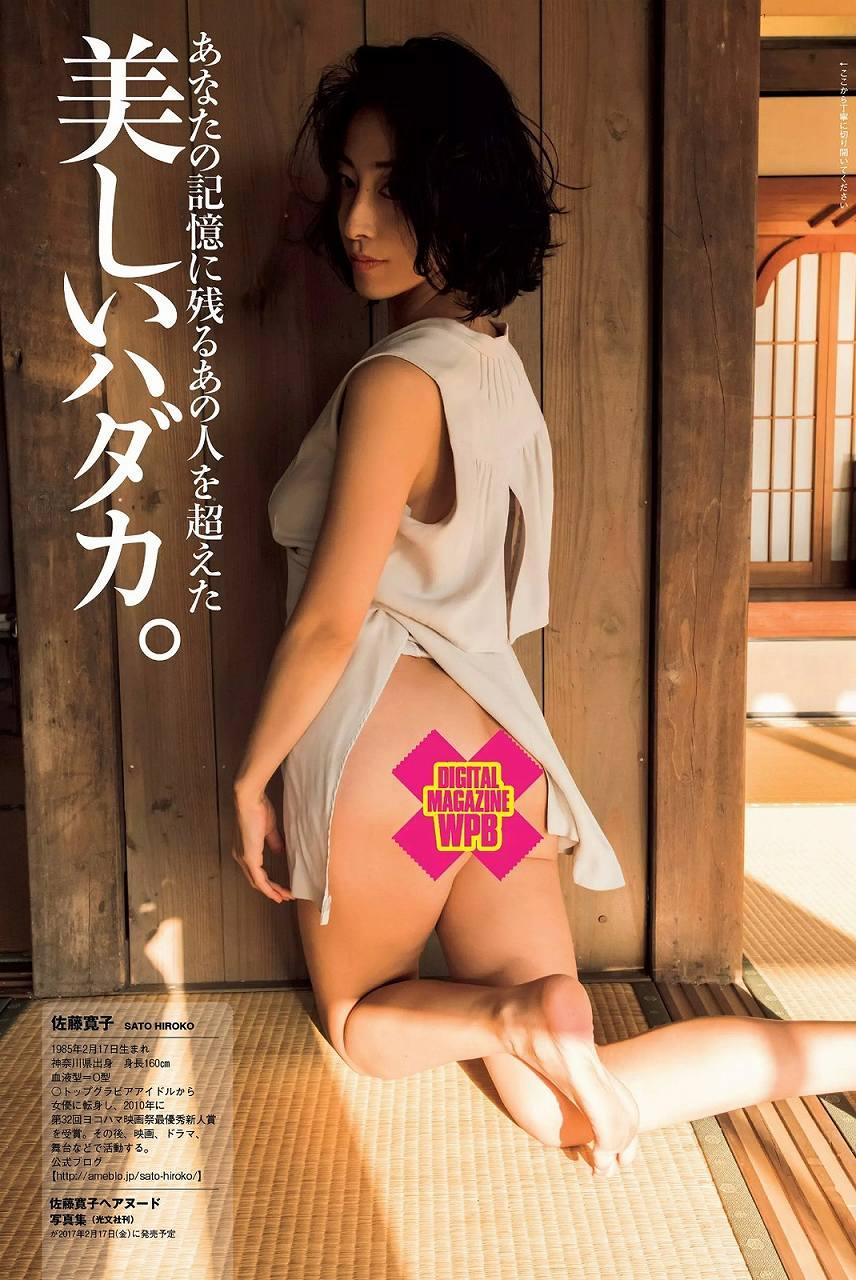 「週刊プレイボーイ 2016 No.52」佐藤寛子のヌードお尻グラビア