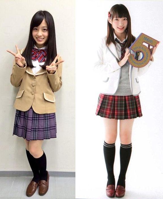 橋本環奈と太田夢莉の頭身比較画像