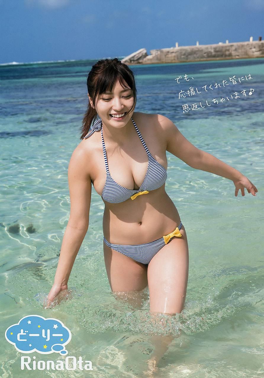 「ヤングアニマル 2017年 No.4」太田里織菜の水着グラビア