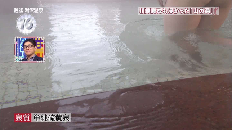 テレ東「出没!アド街ック天国」、山の湯温泉に入る全裸お姉さんのお尻の割れ目
