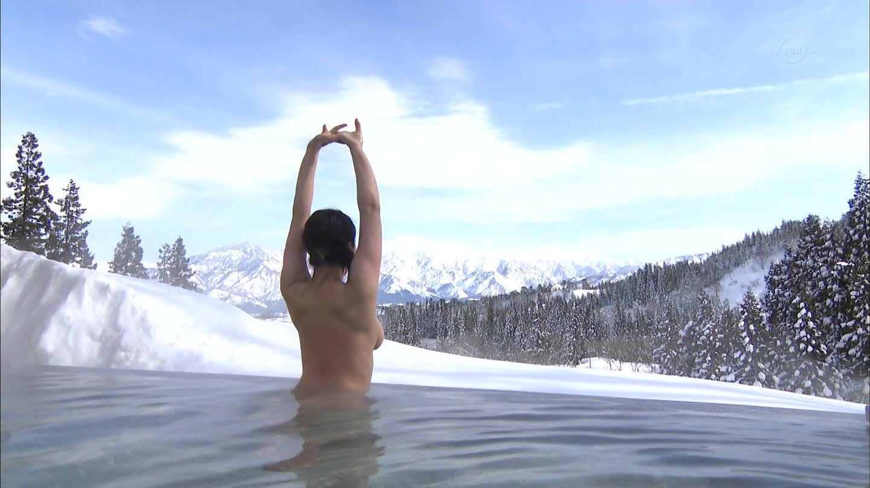 テレ東「出没!アド街ック天国」、越後湯沢温泉で入浴する全裸お姉さんのおっぱい