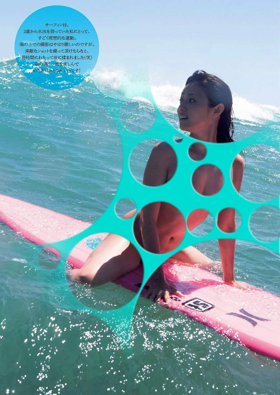 深田恭子の水着グラビアの水玉コラ