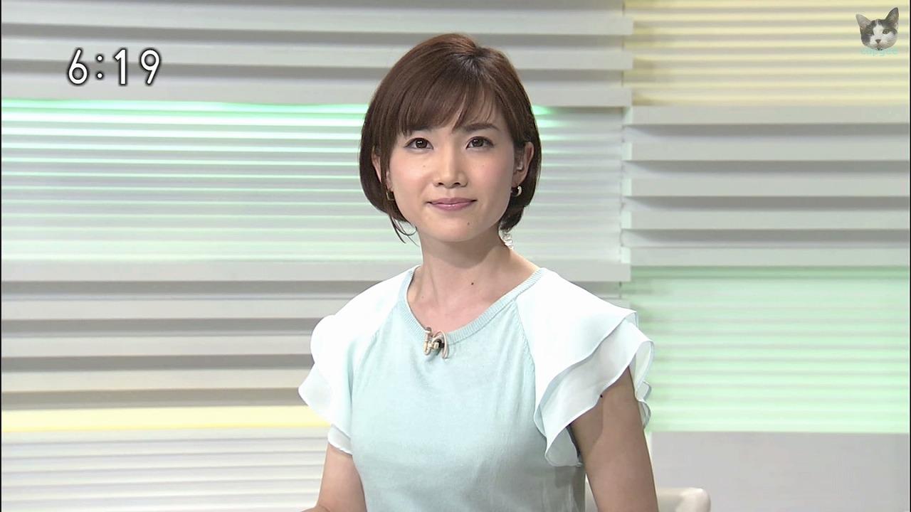 水戸放送局・奥貫仁美アナの着衣巨乳