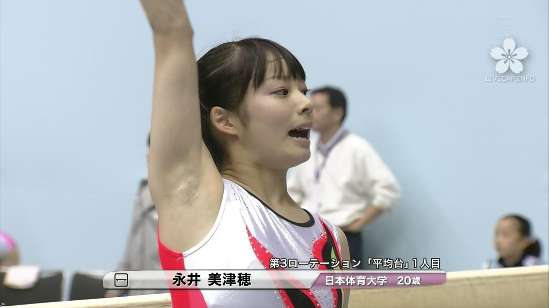 女子大生新体操選手のジョリジョリの腋