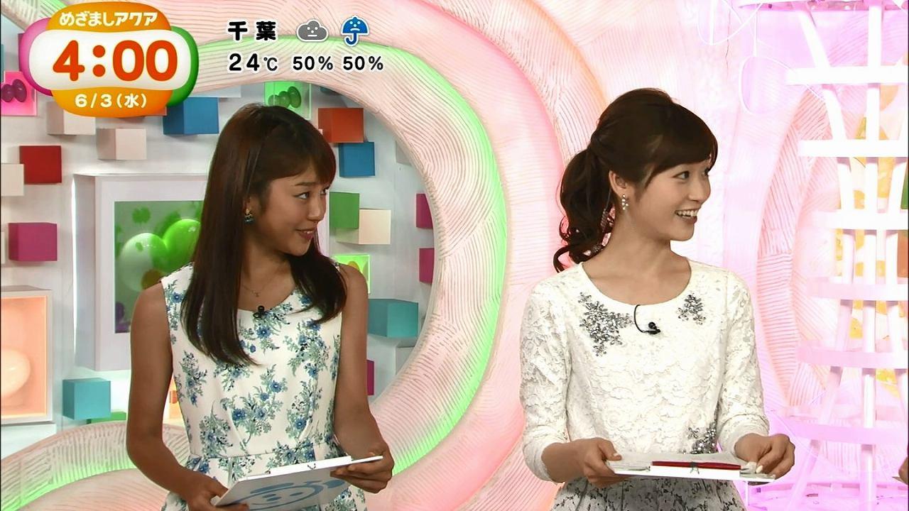 真っ黒に日焼けした姿で「めざましテレビ」に出演した岡副麻希