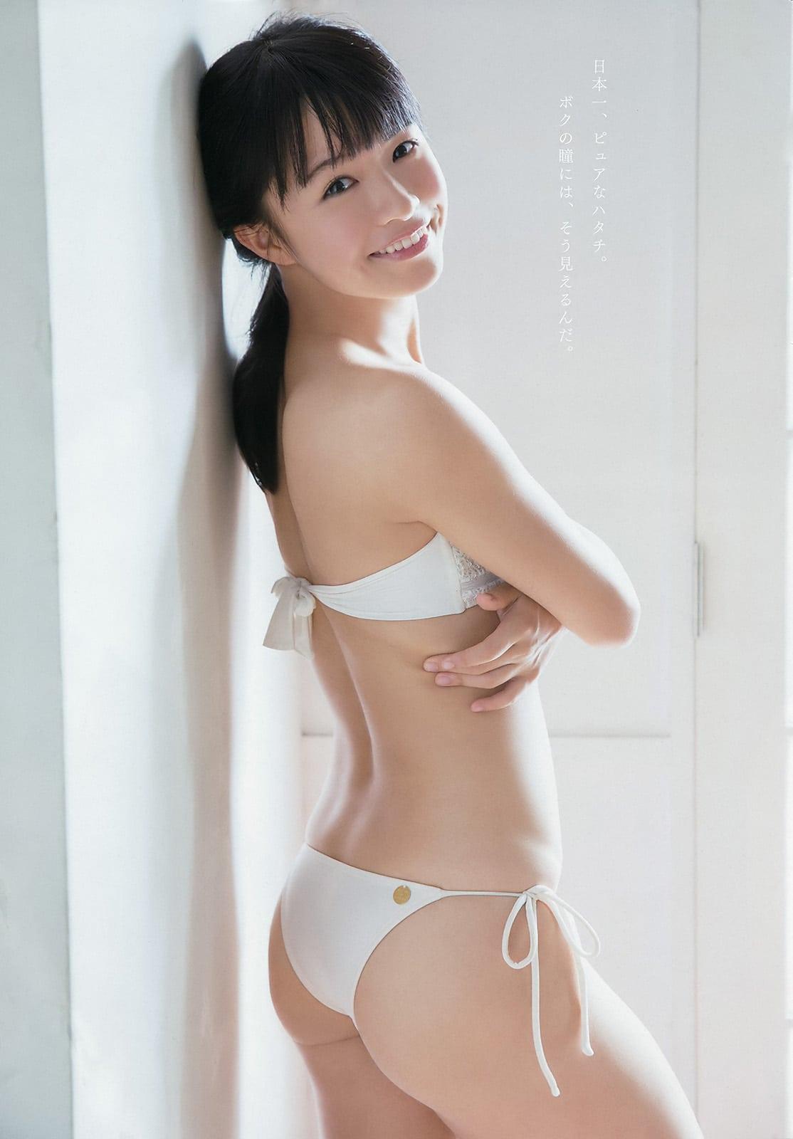 「ヤングアニマル 2016 No.21」百川晴香(全力少女R)の水着お尻グラビア