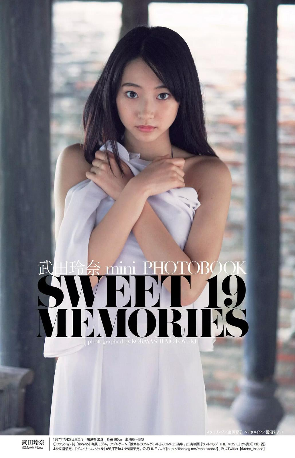 「週刊プレイボーイ 2017 No.12」SWEET 19 MEMORIES mini PHOTOBOOK(武田玲奈の水着グラビア)