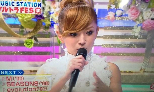 2016年にミュージックステーションに出演した浜崎あゆみ