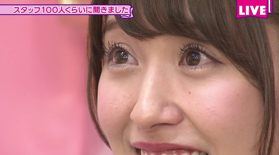 「NOGIBINGO!」でアップになった衛藤美彩の顔